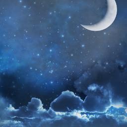 background landscape scenery sky clouds crescentmoon moonlight aesthetic blue heypicsart picsartmaster masteredit myedit madewithpicsart freetoedit