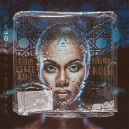 cdcase music retro remixed blackskin freetoedit