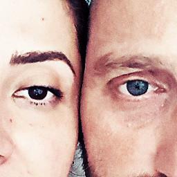 eyes blueeye browneye love look picsart freetoedit random