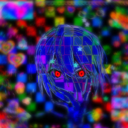 freetoedit anime manga hxh hunterxhunter kurapika kurapikahxh glitchcore