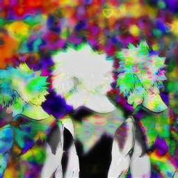 freetoedit anime manga mha bnh bakugou katsukibakugou bakugokatsuki explosion glitch glitchcore