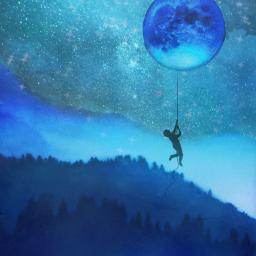fantasyart nightsky mountains fullmoon moonlight boy climbingthemoon surreal surrealistic creative becreative be_creative aestheticedit heypicsart picsartmaster masteredit myedit madewithpicsart freetoedit default