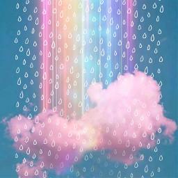 doodleraindrops doodleraindropschallenge picsart stickerchallenge replay pinkcloudaesthetic rainbow interesting art sky freetoedit rcdoodleraindrops