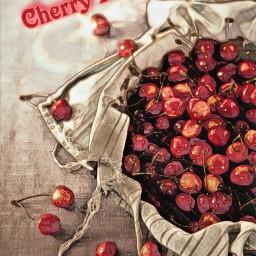cherries food freetoedit