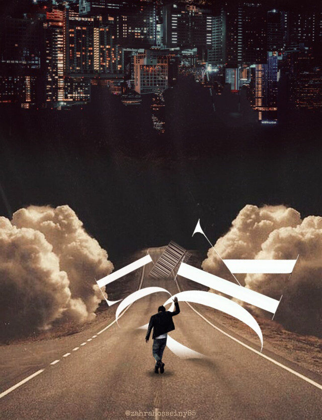 #look #text #city #walking #man #road #sky #barcode #beautiful