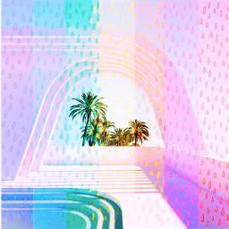 doodleraindropsreplaychallenge pastel architecture picsart picsartchallenge california summer interesting palmtrees rainbow stickerchallenge sunshine rain pretty freetoedit retrofuturism rcdoodleraindrops doodleraindrops