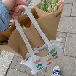 aesthetic asthetic aesthetics asthetics bag flowers tulips update walking street converse