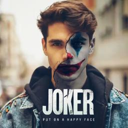 joker smile red blue face boy man text beautiful freetoedit local