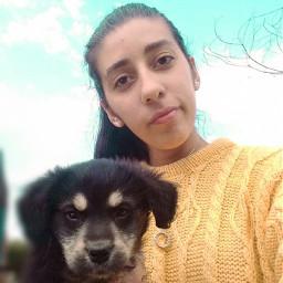 artes selfie fotografia picsart kawaii naturaleza🍃 perro arte naturaleza