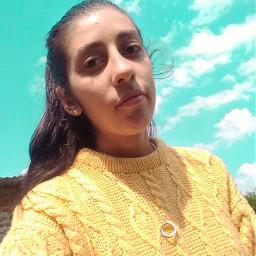 selfie fotografia tumblr model picsart brilla naturaleza🍃 cielo arte cute passion amarillo💛 naturaleza amarillo