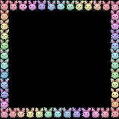 bunny badbunny cringe rainbow rainbowcore cute cringecute icon marco frame sticker animal bun aesthethic pinkaesthetic flower cottagecore random idk freetoedit