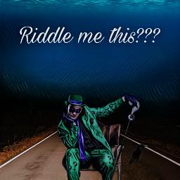 riddler @kfurnace freetoedit picsart riddler