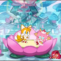 freetoedit cookierun tailscookie tails strawberrycrepecookie strawberrycrepe lotus lotusdragoncookie lotusdragon