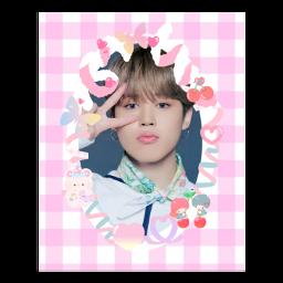 jimin bts bangtan polco polcos cute pink deco polaroiddeco photocard