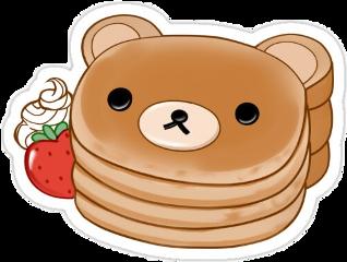 rilakkuma rilakkumabear pancakes pancake love strawberry cute kawaii freetoedit