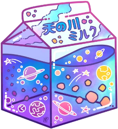 japan art saturn planet planets blue purple milk kawaii cute aesthetic sticker freetoedit