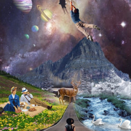 freetoedit detailed pretty picnic surreal love sarahsalsas ifollowback fantasy awholevibe space scenic beauty scenery wondering wanderlust planets balloons water saveremixcomment ilovethis cooledit picsart galaxy mountain
