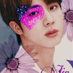 kimseokjin purple flower thebest universo 2021 freetoedit local