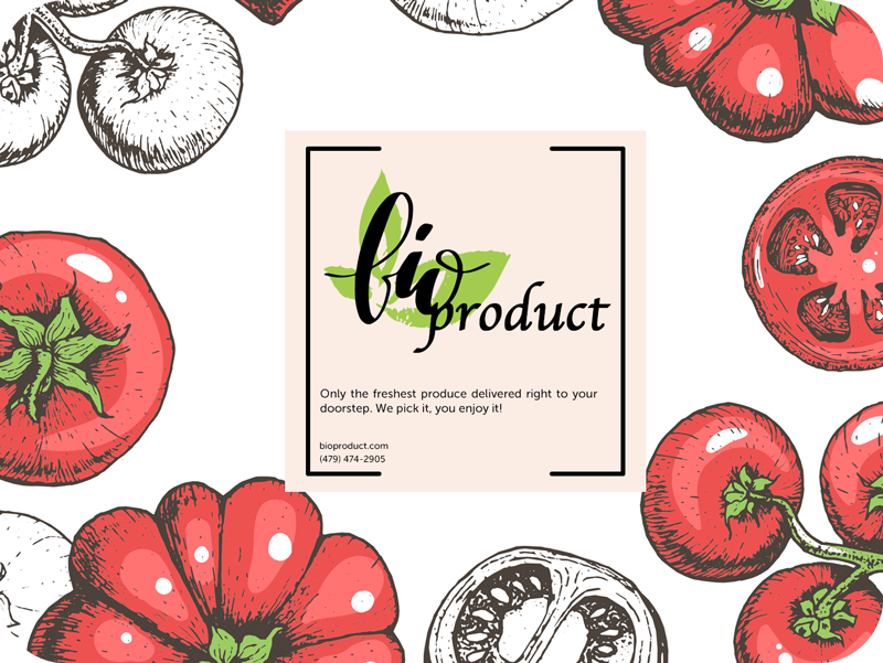vegetables, products brocure template