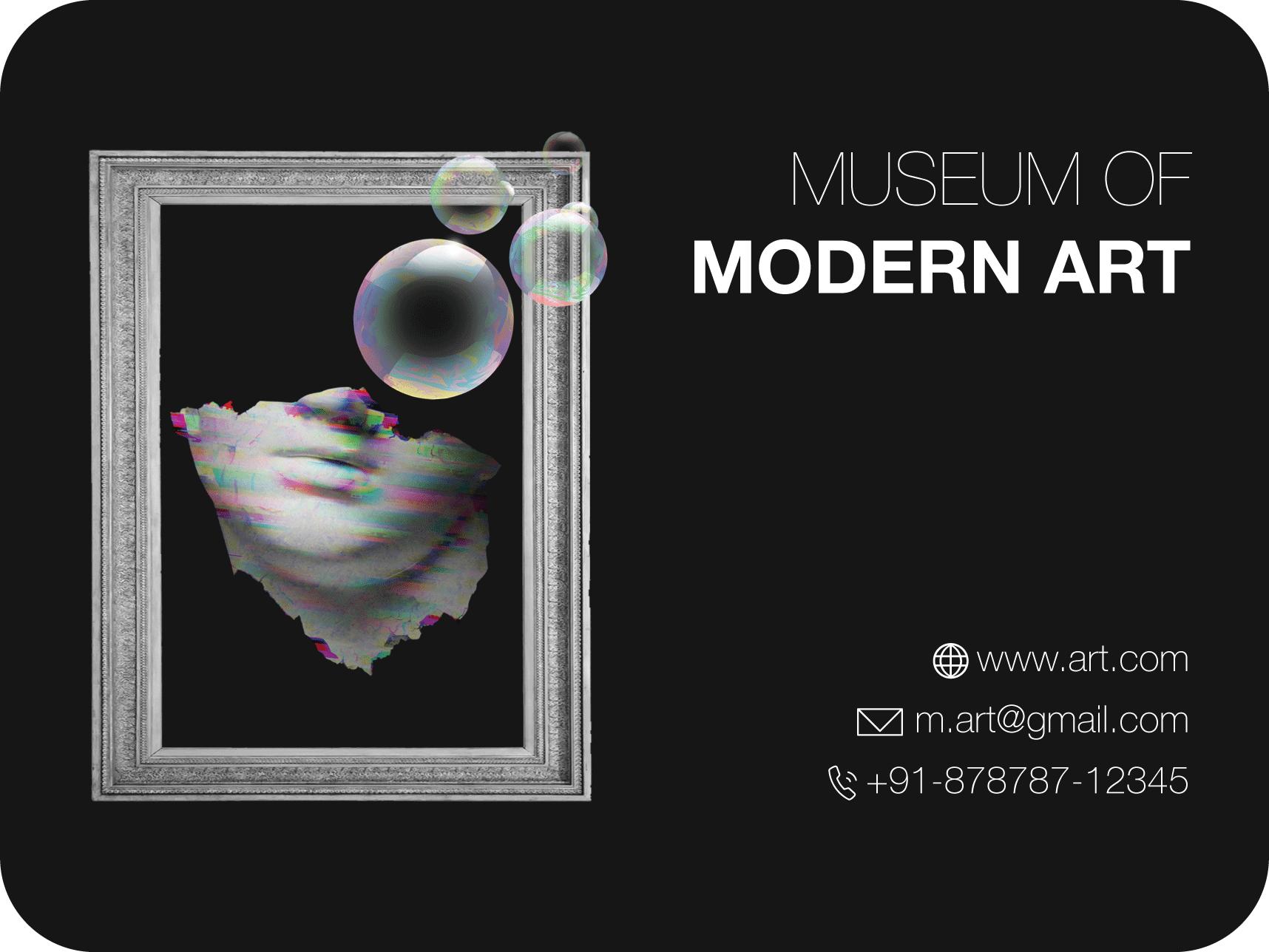 museum of modern art business card design template