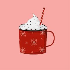Create,the,cutest,hot,chocolate,sticker,for,today's,challenge!