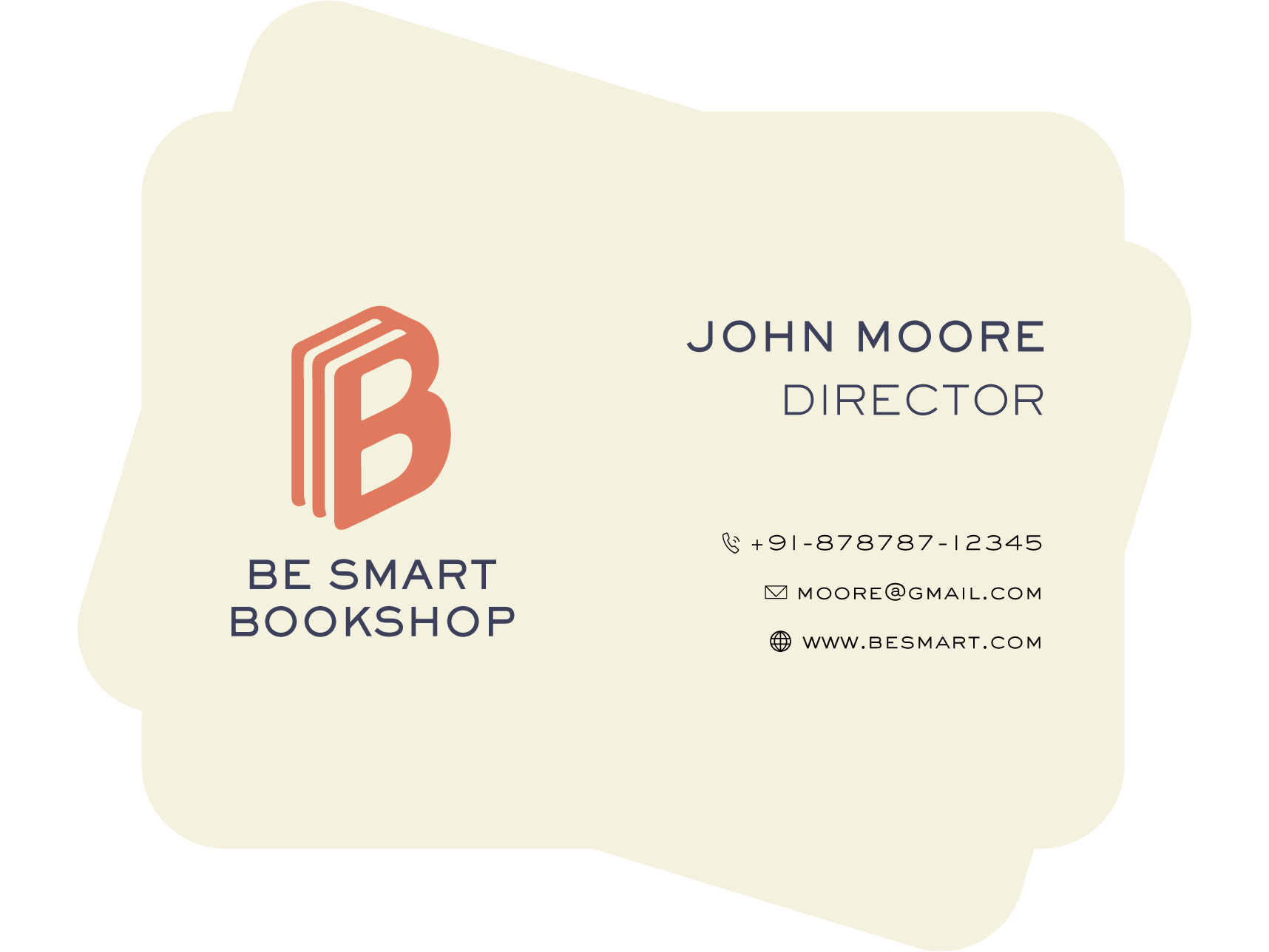 bookshop director business card design template