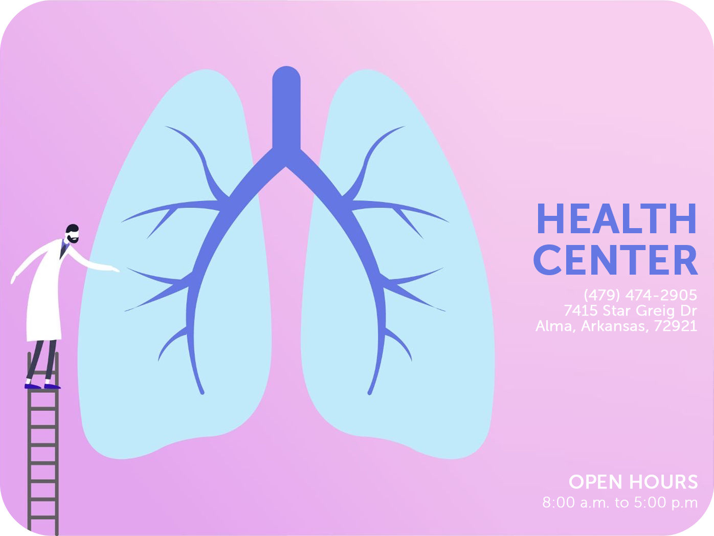health center design brochure template